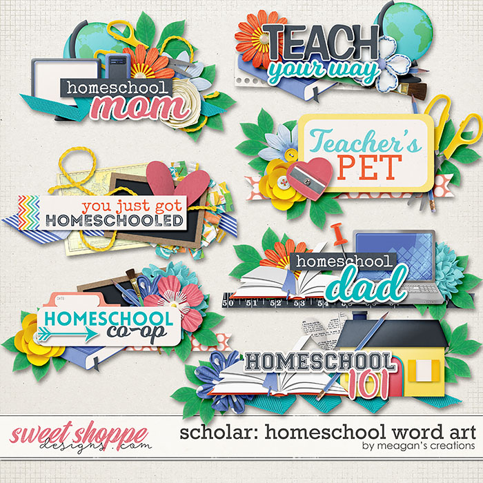 Scholar: Homeschool Word Art by Meagan's Creations