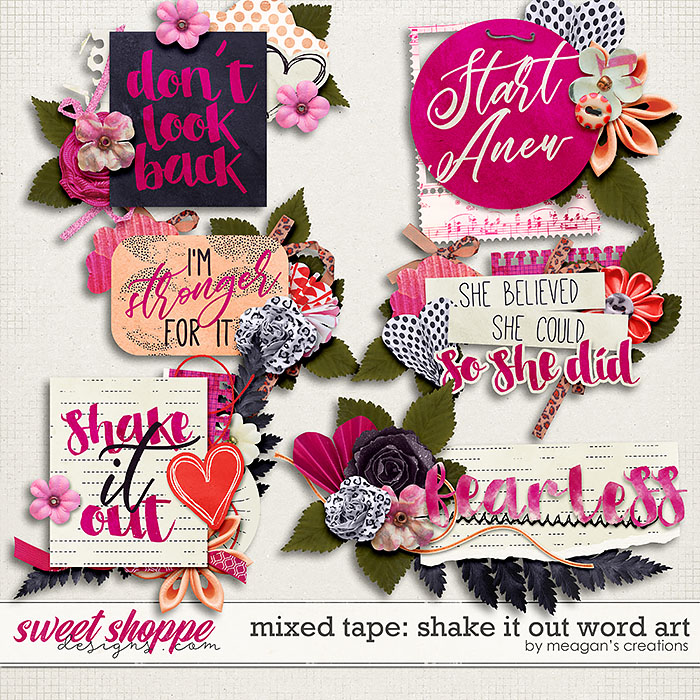 Shake it Out: Word Art by Meagan's Creations