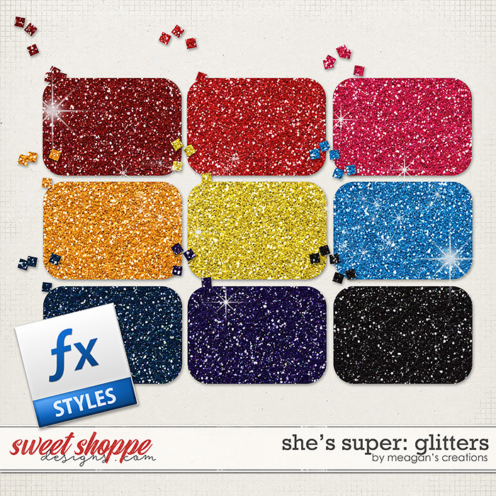 She's Super: Glitters by Meagan's Creations