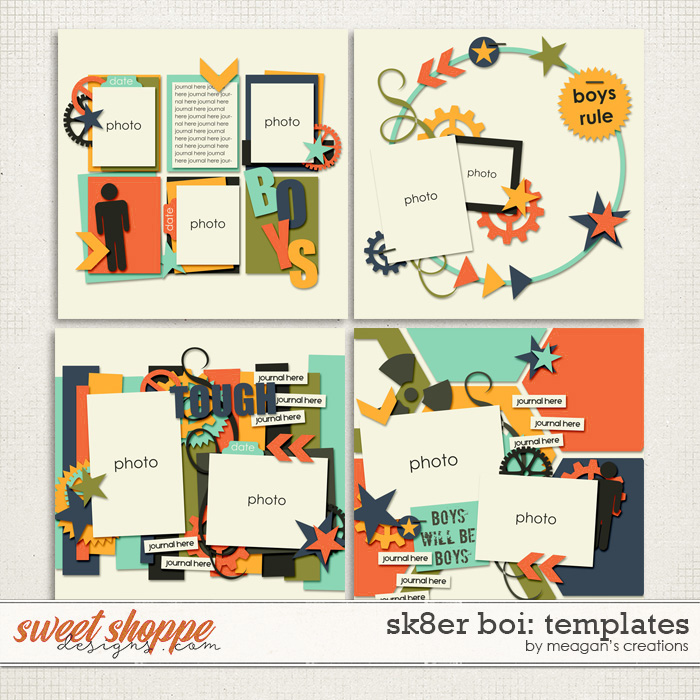 Sk8er Boi: Templates by Meagan's Creations