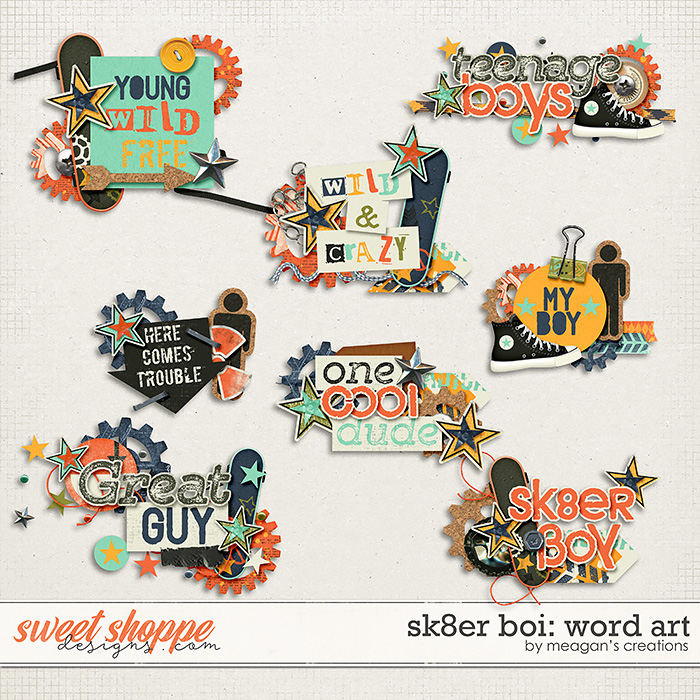 Sk8er Boi: Word Art by Meagan's Creations