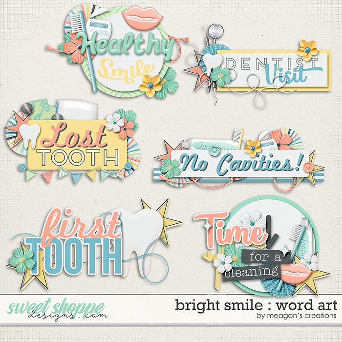 Bright Smile : Word Art by Meagan's Creations