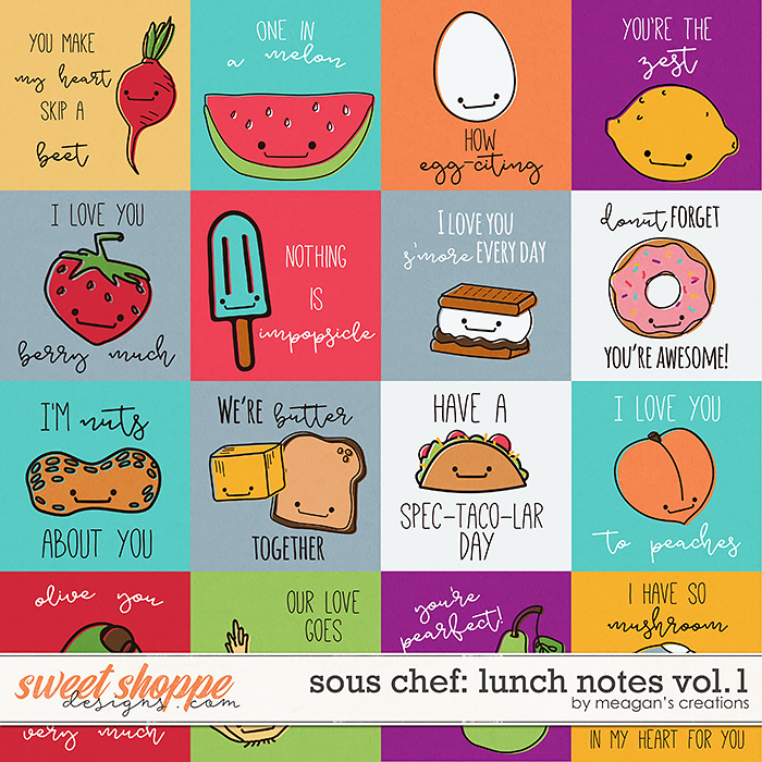 Sous Chef: Lunch Notes Vol. 1 by Meagan's Creations