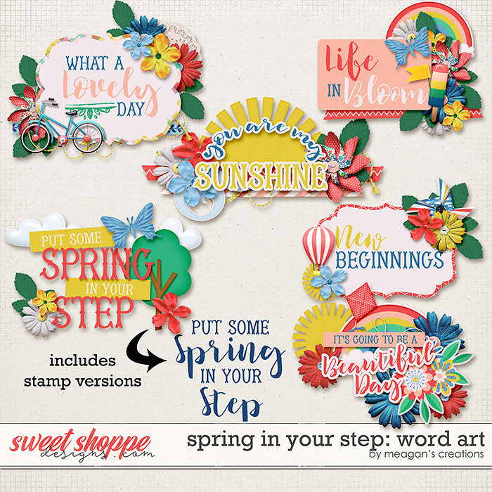 Spring in Your Step: Word Art by Meagan's Creations