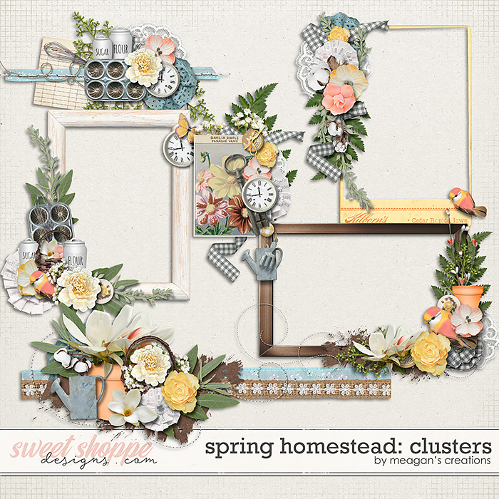 Spring Homestead: Clusters by Meagan's Creations