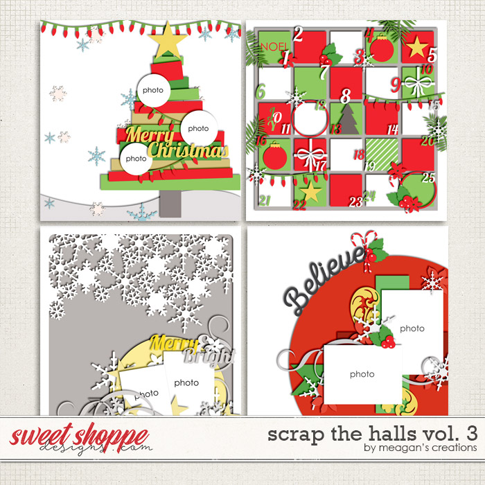 Scrap the Halls Vol. 3 by Meagan's Creations