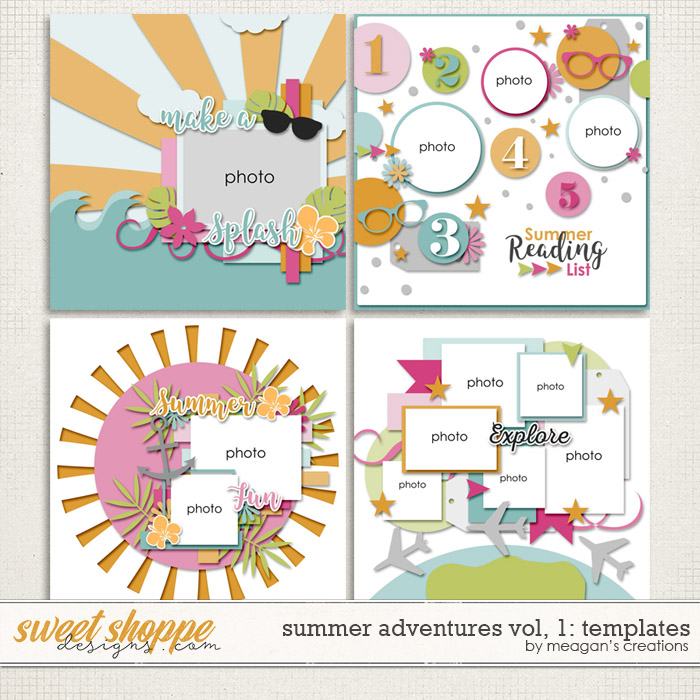 Summer Adventures Vol. 1 : Templates by Meagan's Creations