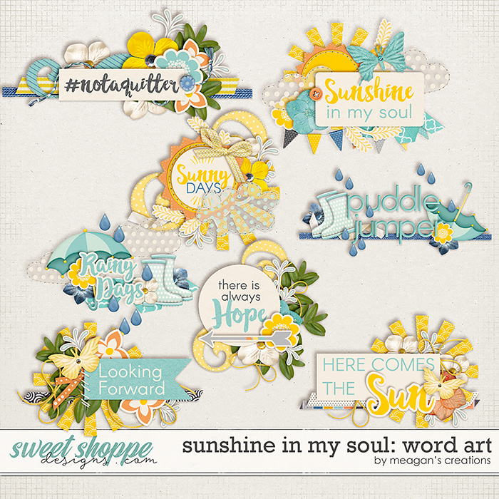 Sunshine in My Soul: Word Art by Meagan's Creations