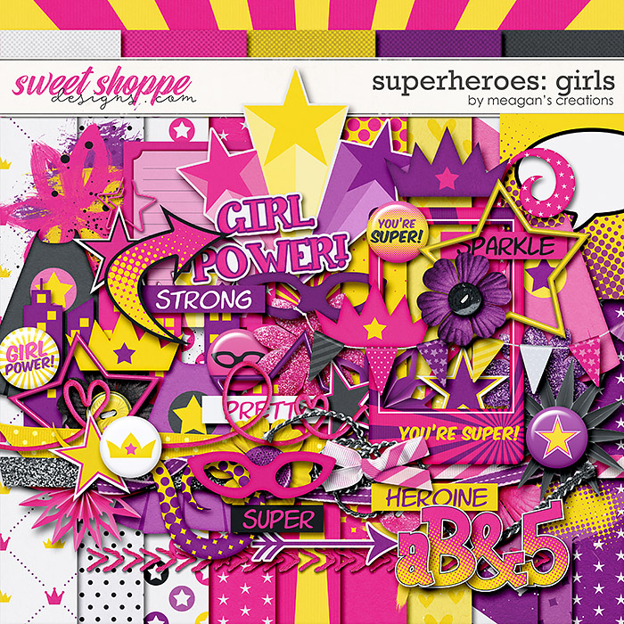 Superheroes : Girls by Meagan's Creations
