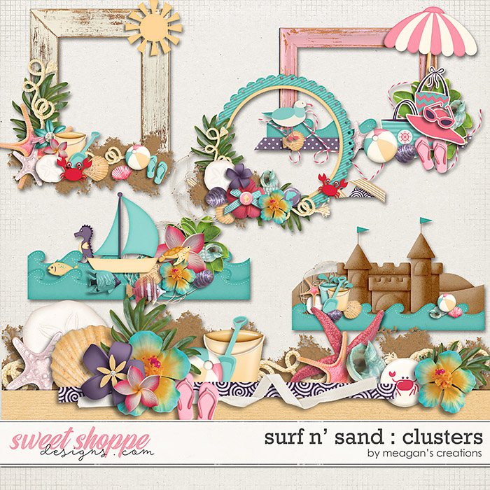 Surf N' Sand : Clusters by Meagan's Creations