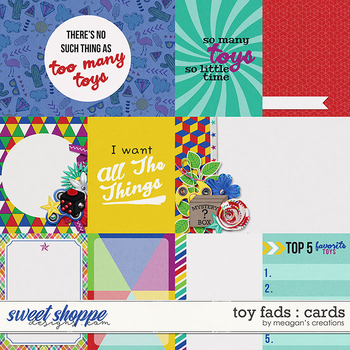 Toy Fads : Cards by Meagan's Creations