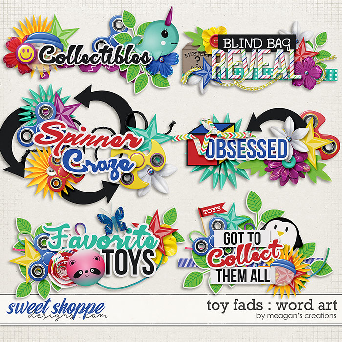 Toy Fads : Word Art by Meagan's Creations