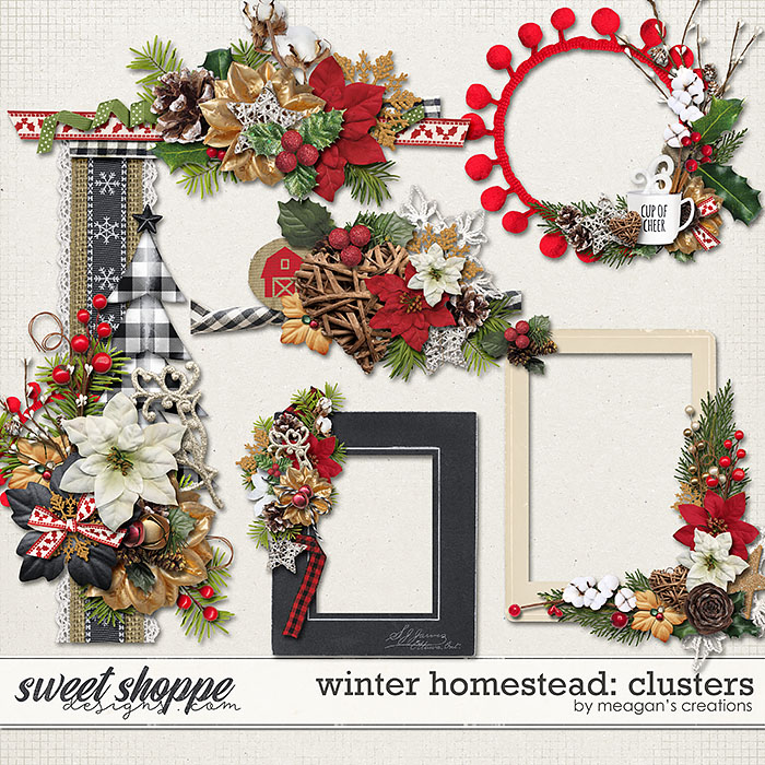 Winter Homestead: Clusters by Meagan's Creations