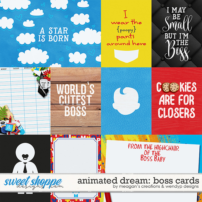 Animated Dream: Boss - Cards by Meagan's Creations & WendyP Designs