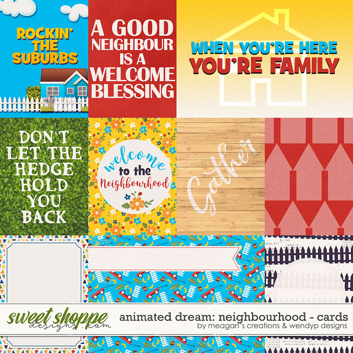 Animated Dream: neighbourhood - cards by Meagan Creations & WendyP Designs