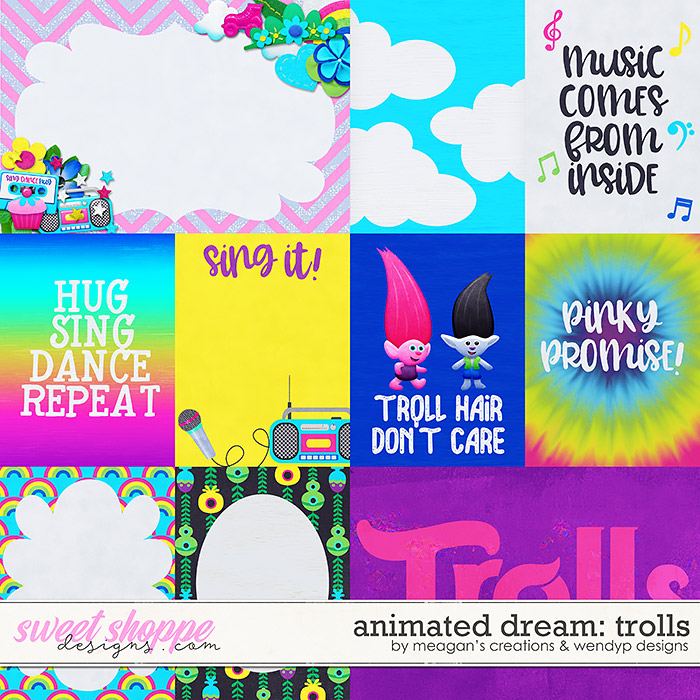 Animated Dream: Trolls Cards by Meagan's Creations and WendyP Designs