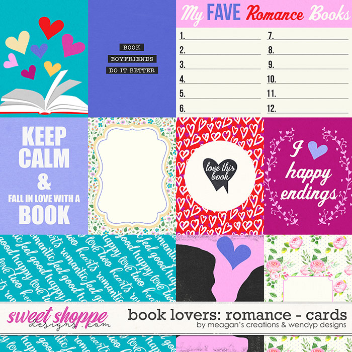 Book Lovers: Romance Cards by Meagan's Creations and WendyP Designs