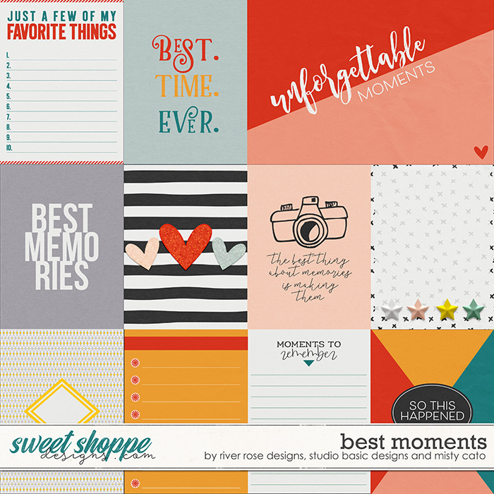 Best Moments Cards by Misty Cato, River Rose and Studio Basic