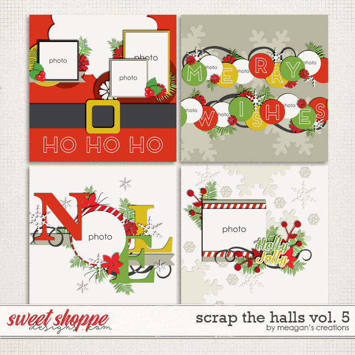 Scrap the Halls Vol. 5 by Meagan's Creations