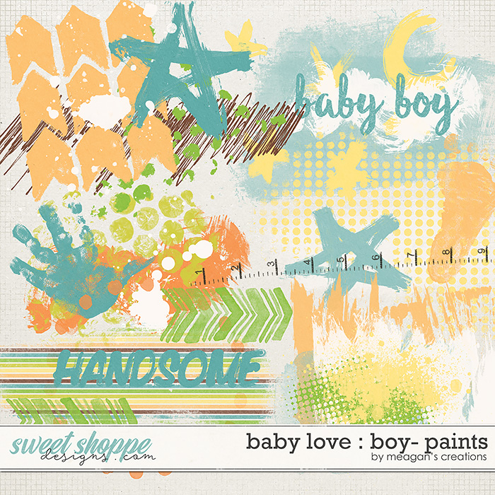 Baby Love {Boy} : Paints by Meagan's Creations
