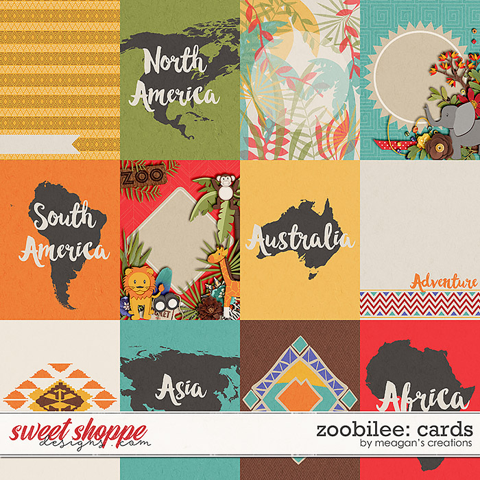 Zoobilee: Cards by Meagan's Creations
