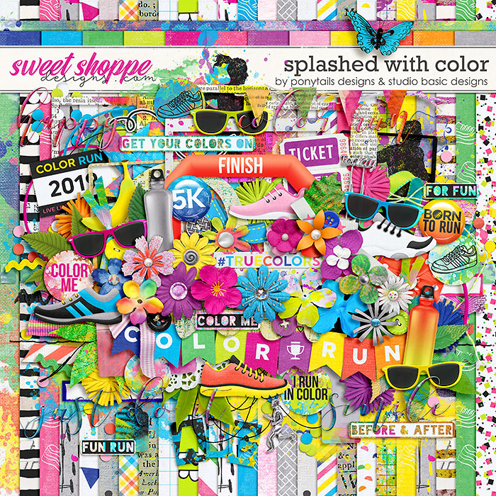 Splashed With Color Kit by Ponytails Designs & Studio Basic