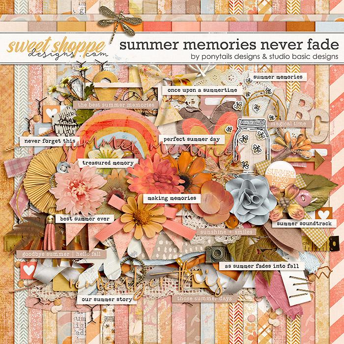 Summer Memories Never Fade Kit by Ponytails Designs & Studio Basic