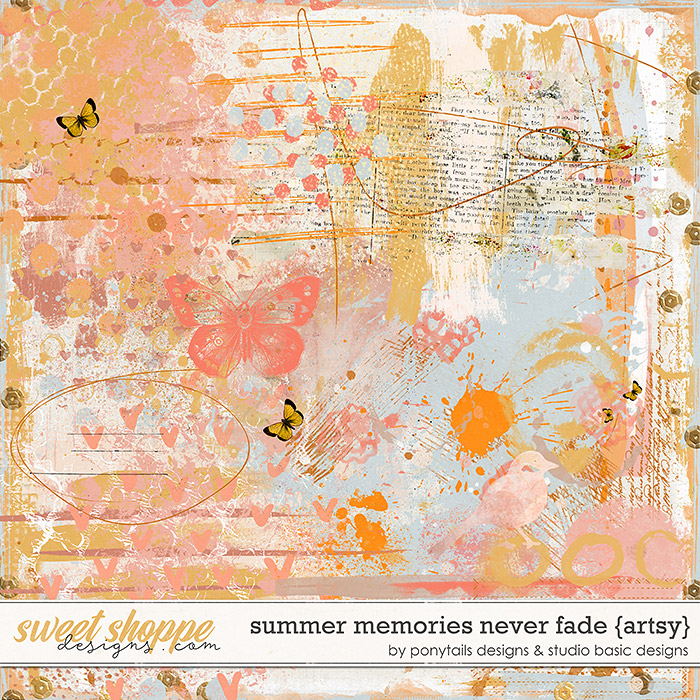 Summer Memories Never Fade Artsy by Ponytails Designs & Studio Basic