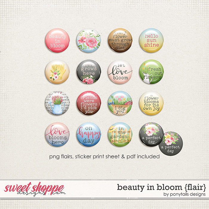 Beauty in Bloom Flair by Ponytails