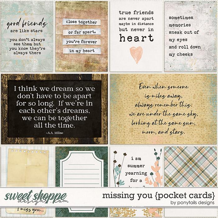 Missing You Pocket Cards by Ponytails