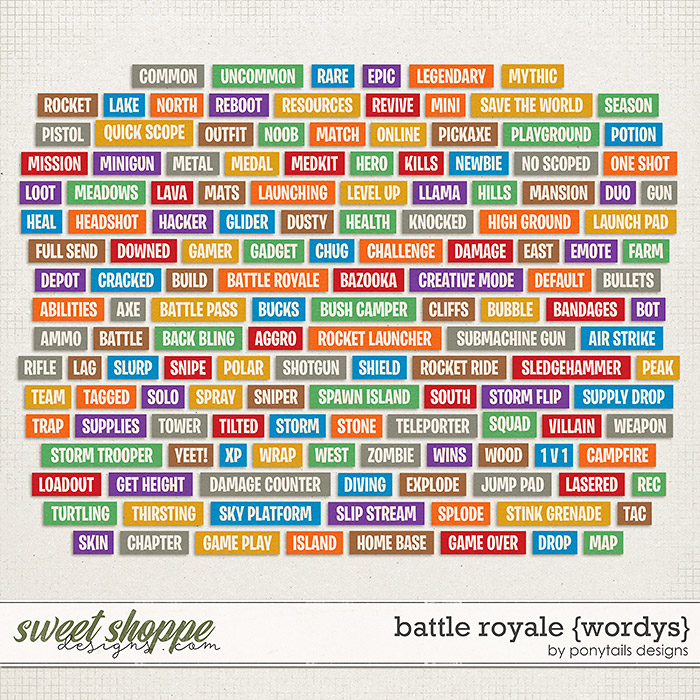 Battle Royale Wordys by Ponytails
