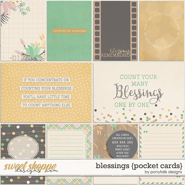 Blessings Pocket Cards by Ponytails
