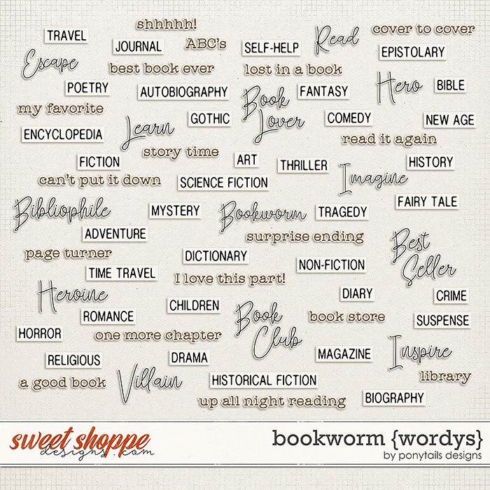 Bookworm Wordys by Ponytails