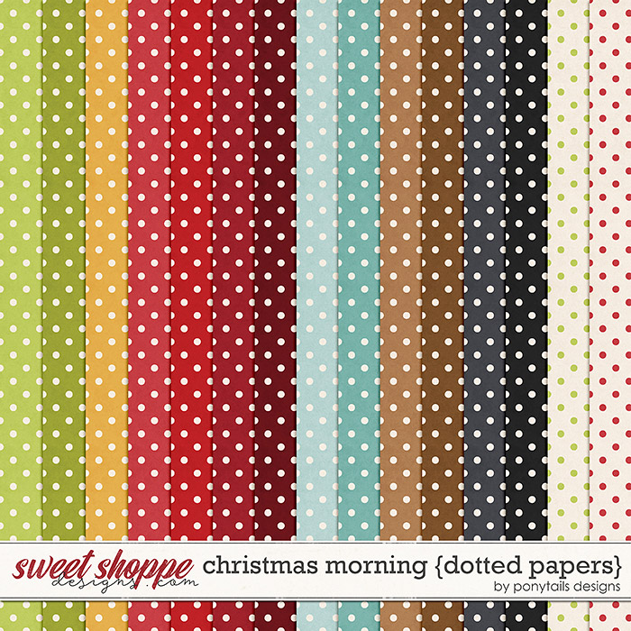 Christmas Morning Dotted Papers by Ponytails