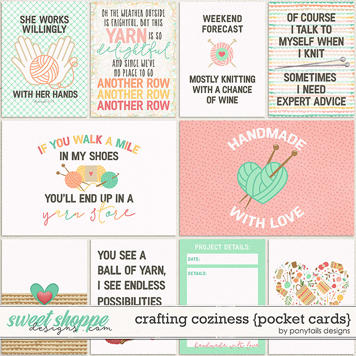 Crafting Coziness Pocket Cards by Ponytails