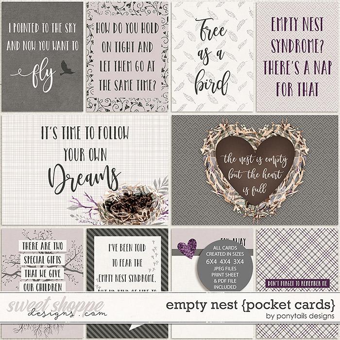 Empty Nest Pocket Cards by Ponytails