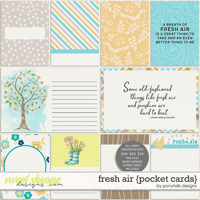 Fresh Air Pocket Cards by Ponytails