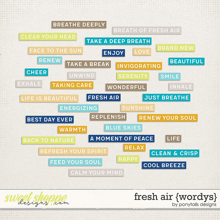 Fresh Air Wordys by Ponytails