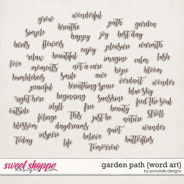 Garden Path Word Art by Ponytails