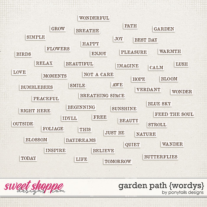 Garden Path Wordys by Ponytails