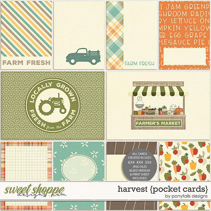 Harvest Pocket Cards by Ponytails