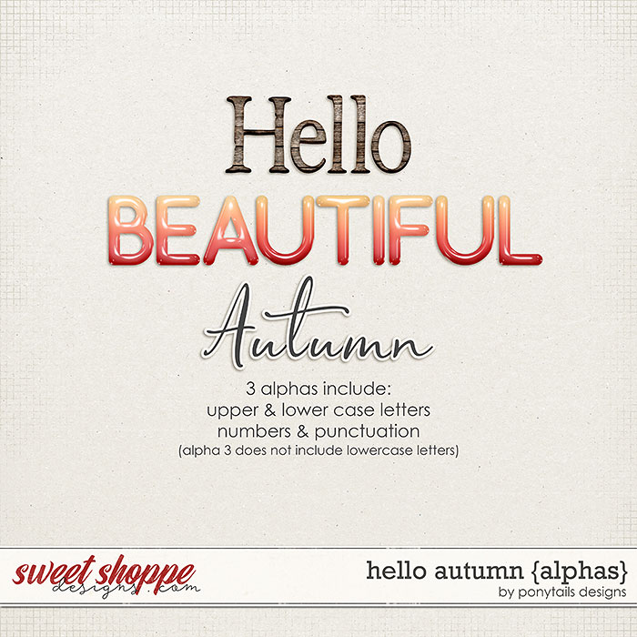 Hello Autumn Alphas by Ponytails
