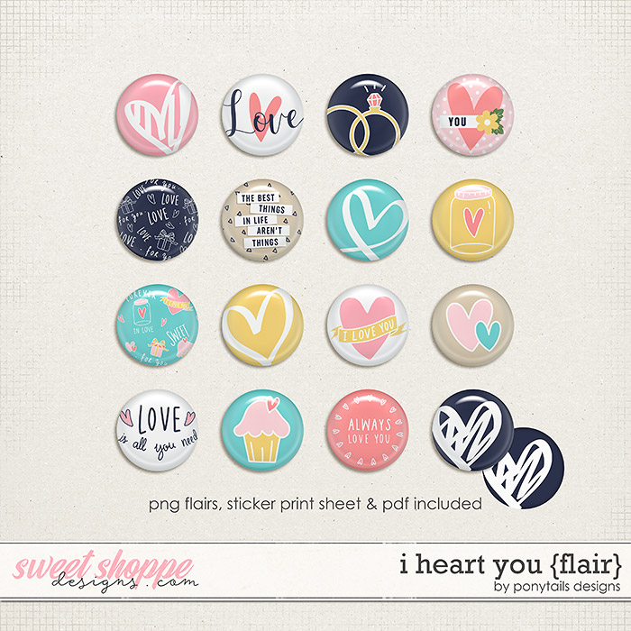I Heart You Flair by Ponytails