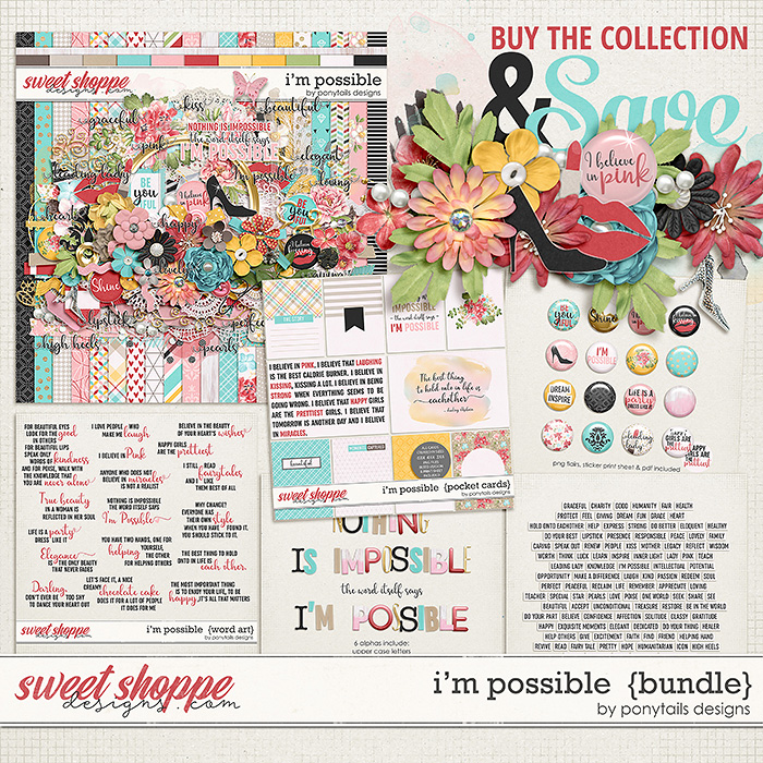I'm Possible Bundle by Ponytails