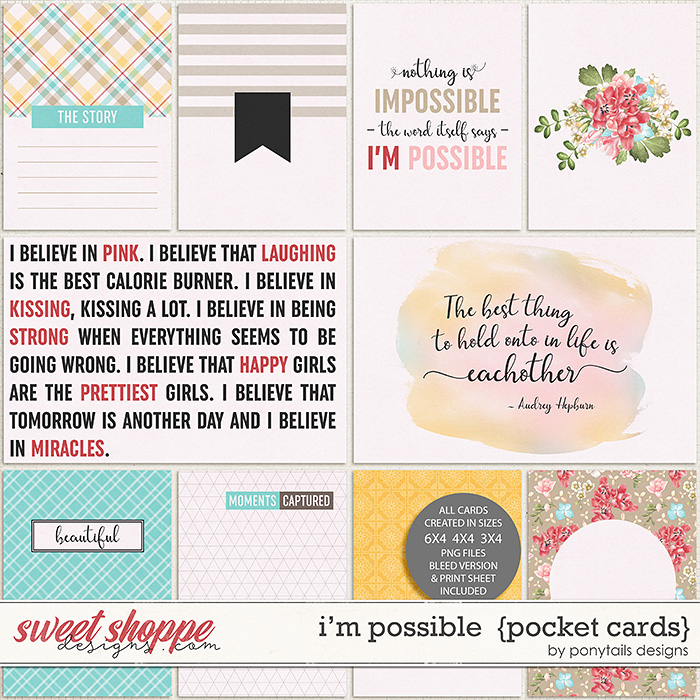 I'm Possible Pocket Cards by Ponytails
