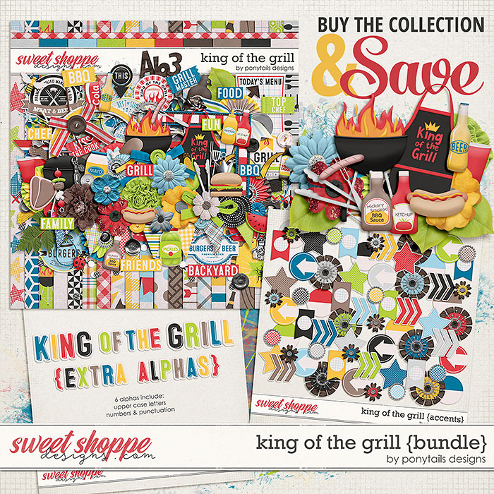 King of the Grill Bundle by Ponytails