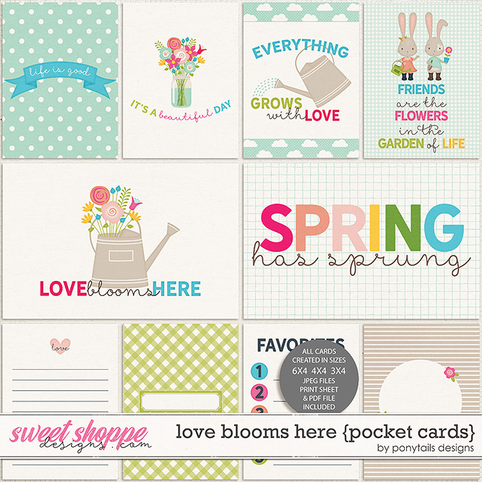 Love Blooms Here Pocket Cards by Ponytails