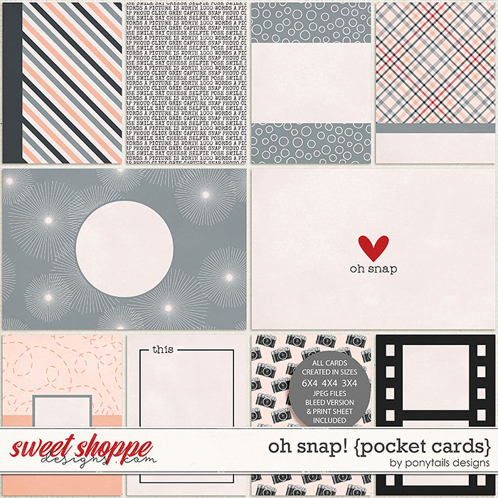 Oh Snap! Pocket Cards by Ponytails