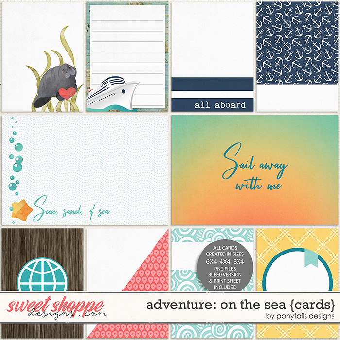 Adventure: On the Sea Pocket Cards by Ponytails