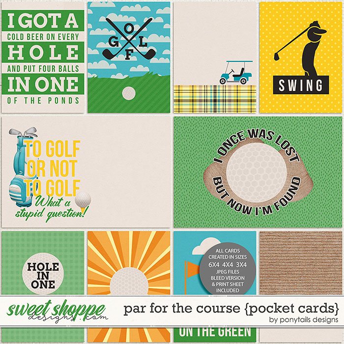 Par for the Course Pocket Cards by Ponytails